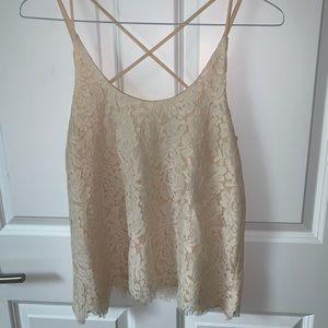 Strappy lace tank